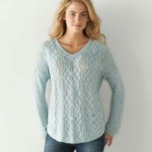 Sonoma knit light blue sweater